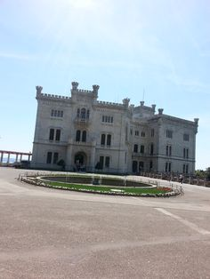 Castle Miramare, Trieste, Italy, and here's the castle, finally! Built by Maximilian I, brother of Emperor Franz Josef of Austria, also known as Maximilian of Mexico, which is where he died in 1867. Learn more about him by clicking on the photo.