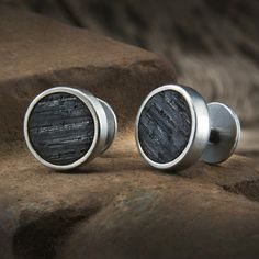 WHISKEY BARREL WOOD CUFF LINKS - PAPPY & CO.
