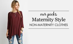 Non-Maternity Style - dress your growing bump with these non-maternity pieces!