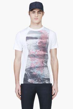 KRISVANASSCHE White Ocean Graphic T-Shirt