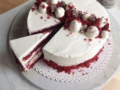 Dort Red Velvet Feta, Ham, Red Velvet, Cake Decorating, Cheesecake, Pudding, Cookies, Baking, Sweet