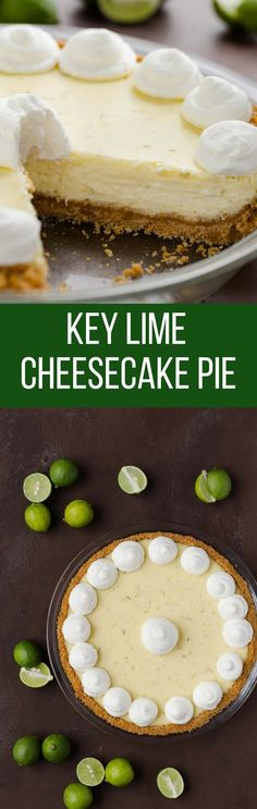 Key Lime Cheesecake Pie Recipe   Pie   Easy   Dessert   Made from Scratch   Homemade