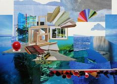 "Saatchi Online Artist: Mariana Ionita; Paper, 2012, Assemblage / Collage ""crossing the other sea"""