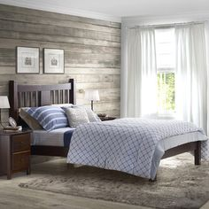 Shaker Platform Bed   Wayfair.ca This luxurious-looking bed has what it takes to give your bedroom that refined touch. Its modernized Shaker style creates a timeless decor, made of 100% solid pine wood, this bed features a sturdy construction that can last for years.