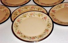 Vintage Lenox Flirtation Fine China Bread Plates by designfrills, $59.00