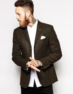 Image 1 ofASOS Slim Fit Blazer In 100% Wool