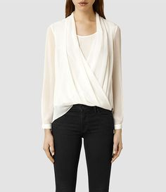 Women's Abi Sleeve Top (Black) -