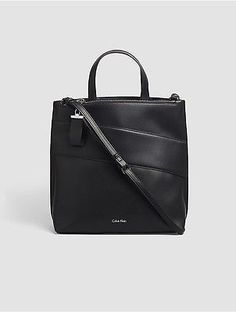 Calvin Klein Womens Faux Leather North/south Tote Black North South, Hermes Kelly, Purses And Bags, Calvin Klein, Leather, Fashion Design, Ebay, Black, Tote Bags