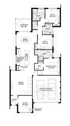 Brook - Luxurious Home Design Suit for block 3 Bedroom Home Floor Plans, House Floor Plans, Luxury Toilet, Narrow House Plans, Storey Homes, Toilet Design, House Blueprints, Home Design Plans, Open Plan Living
