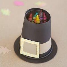 Pilgrim hat crayon holder #diamondcandles #harvestcontest2012