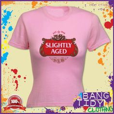 SLIGHTLY AGED 1948 65th BIRTHDAY WOMANS T SHIRT  Our Price: £10.97