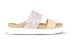 slipper double band powder with glitter and calf leather Ss 17, Calf Leather, Calves, Espadrilles, Powder, Swag, Slippers, Glitter, Band