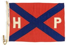 Vintage nautical flag: HP. Via bsreport: House flag, Huddart Parker Ltd - National Maritime Museum