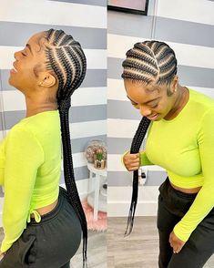 Braided Cornrow Hairstyles, Feed In Braids Hairstyles, Black Girl Braided Hairstyles, Braids Cornrows, Ghana Braids, Cornrow Braid Styles, African Braids Hairstyles Pictures, Feed In Braids Ponytail, Quick Braids