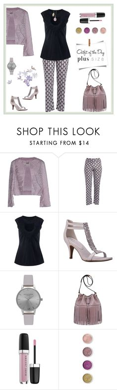 """""""Outfit of the Day 4-26-Work day- drinks after work Plus"""" by maryfromnewengland ❤ liked on Polyvore featuring Chlotilde, New York Transit, Olivia Burton, Mellow World, Marc Jacobs, Petit Bateau, Terre Mère, outfitoftheday, plussize and plus size clothing"""