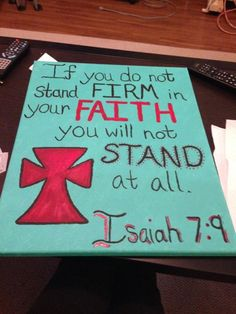 Bible Verse Painting on Canvas Isaiah 79 by PaintingWifey on Etsy, $20.00