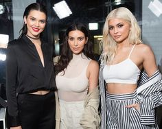Kim, Kendall & Kylie at the Kendall + Kylie Pop Up store in New York City. (September 2016)
