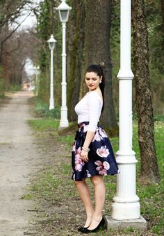 GA6A2592 My Outfit, Bloom, Floral, Skirts, Outfits, Fashion, Moda, Suits, Skirt
