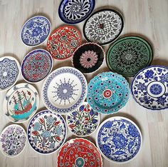 Popular Art, Decorative Plates, Texture, Abstract, Tableware, Floral, Colour, Inspiration, Instagram