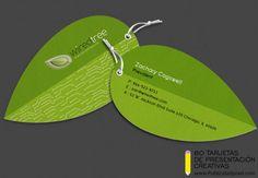 tarjetas de presentacion troqueladas ambientales