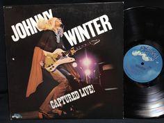 Johnny Winter Vinyl LP Captured Live Blue Sky LP Vinyl Record Original