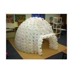 1000 images about vbs decorations on pinterest hallways for How to build an igloo out of milk jugs