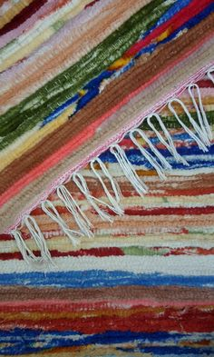 Hand Woven Moroccan Rag Rug Recycled Cotton by MoroccanEthnic, $120.00