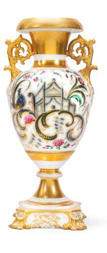 Russian Porcelain Vase, Kornilov Bros., St. Petersburg 1840-1861.