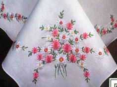 """Tablecloth Stamped Cross Stitch Kit - Tobin Daisy Charm style 1400/57 - 58"""" round tablecloth -Embroidery kit -Designs By Willowcreek on Etsy by DesignsByWillowcreek on Etsy"""