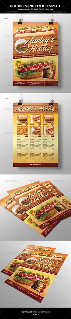Fast Food Menu Flyer  Food Menu Menu And Food Menu Template
