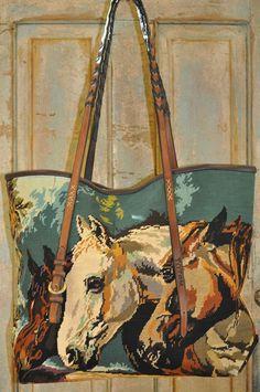 Totem vintage needlepoint handbag
