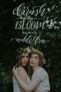Brush & Bloom presents Wild + Free: Floral Crowns + Soulful Calligraphy Design on Saturday, April 16 Bloom And Wild, Floral Crowns, Wild And Free, Hand Lettering, Floral Design, Presents, Calligraphy, Blush, Inspiration