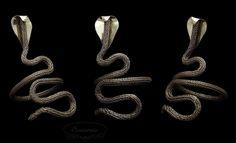 Brass viking knit bracelet, egyprian cobra