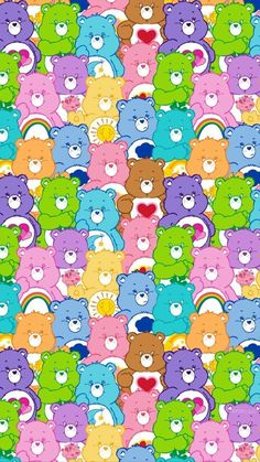 Care bears discovered by Jessica Garcia on We Heart It Care bears discovered by Jessica Garcia on We Heart It<br> Wallpaper Collage, Hippie Wallpaper, Trippy Wallpaper, Bear Wallpaper, Cute Patterns Wallpaper, Iphone Background Wallpaper, Butterfly Wallpaper, Aesthetic Pastel Wallpaper, Locked Wallpaper