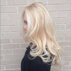 Sorry for the snow, Elsa came to get her hair done! Icy Blonde by Kaitlyn Sterk at Cutting Edge Hair in Carrollton, Tx. Redken Color Certified Redken Club 5th Ave. Elite Salon www.cuttingedgehair.com/stylists/kaitlyn-sterk Elsa Hair blonde hair platinum cool blonde long blonde hair balayage highlights