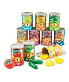 Take a look at this One to 10 Counting Cans Set by Learning Resources on #zulily today!