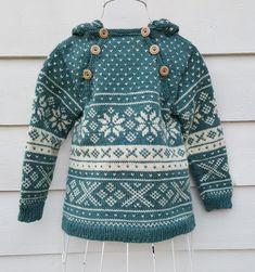 Mønster på anorakk, og genser med ragalanfelling.