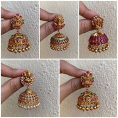 Ultimate 35 Gold Necklace Designs Images Of This Year Gold Jhumka Earrings, Indian Jewelry Earrings, Gold Bridal Earrings, Jewelry Design Earrings, Gold Earrings Designs, Necklace Designs, Jhumka Designs, Gold Ring Designs, Gold Necklace
