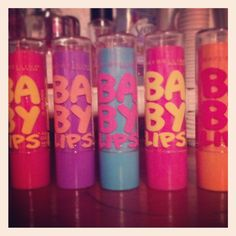 Maybelline-Baby Lips These are my holy grail lip products by far. They give a ton of moisture, shine and just the right amount of tint to your lips. They smell amazing as well.