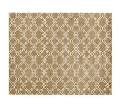 Scroll Tile Rug - Mocha #potterybarn