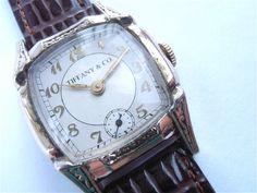 Vintage Tiffany Mens Watch Art Deco - FashionFilmsNYC.com
