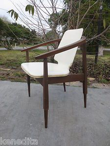 Kodawood Mid Century Arm Chair Danish Modern Style Captain Clam Curved  Style | EBay. $159
