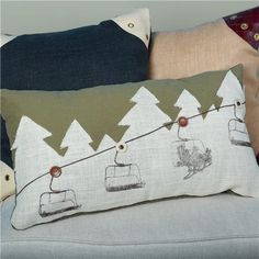 Ski Lift Ride Pillow