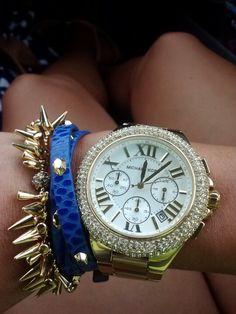Love my Stella & Dot bracelets with my Michael Kors watch