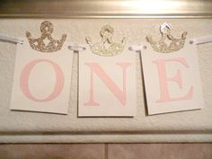Princess First Birthday Banner Girl First by SignsationalSayings