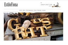 Decoración con letras.  Ideal complemento estilo vintage e industrial.  #decor #decoración #vintage #letras
