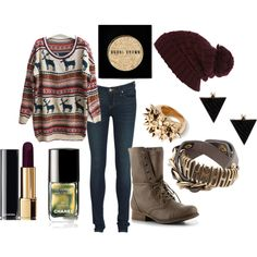 Warmer by spiritofcarnage on Polyvore featuring polyvore, fashion, style, Marc by Marc Jacobs, Madden Girl, Pull&Bear, River Island, Chanel, Bobbi Brown Cosmetics and clothing