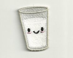 Tiny Smiling Milk Patch Custom Made by PatchNation on Etsy