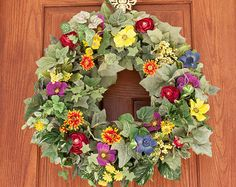 spring wreath mother's day gift bow wreath by HappyWreathDesigner