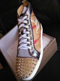 9d92c1f8c9bf Christian louboutin louis Spike leopard print Sneakers size 46 12  fashion   clothing